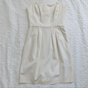 BCBG White/Ivory Strapless Dress